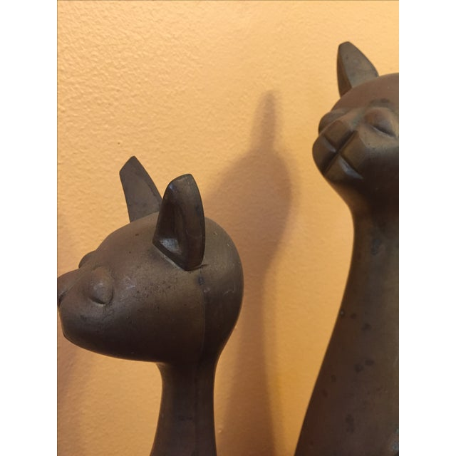 Mid Century Modern Brass Cats - A Pair - Image 8 of 10