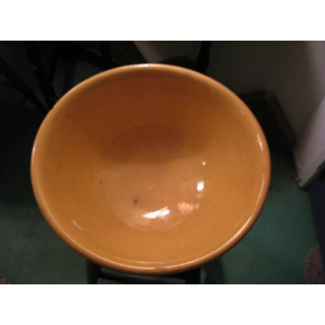 Classic Large Antique Yellow Ware Mixing Bowl - Image 8 of 9