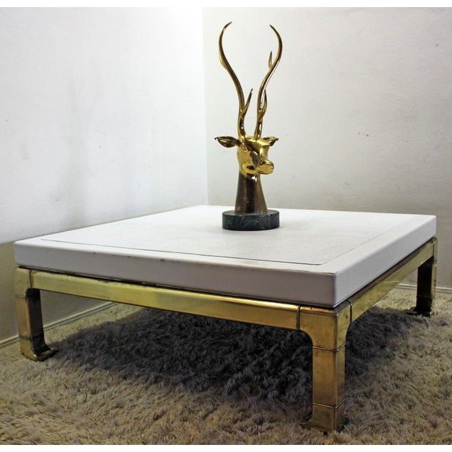 Mastercraft Brass and Lacquered Coffee Table - Image 8 of 8