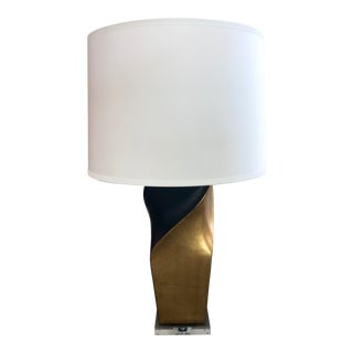 Modern Gold and Black Lamp