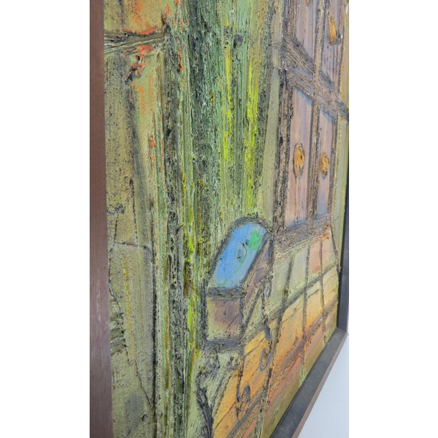 Original Mid-Century Gothic Painting on Board by Van Hoople For Sale - Image 11 of 13