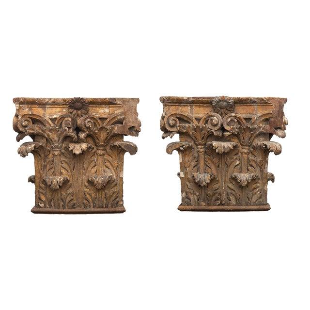 Antique Chapiteaux - a Pair For Sale