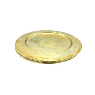 Vintage Mid-Century Solid Brass Scanmalays Plates, Made in Denmark - Set of 5 For Sale