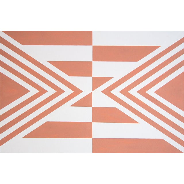 Pink Contemporary Geometric Hard-Edge Painting by Natasha Mistry For Sale - Image 8 of 10
