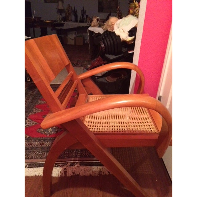 Brown 1950's Scandinavian Mid - Century Modern Beechwood Chair For Sale - Image 8 of 13