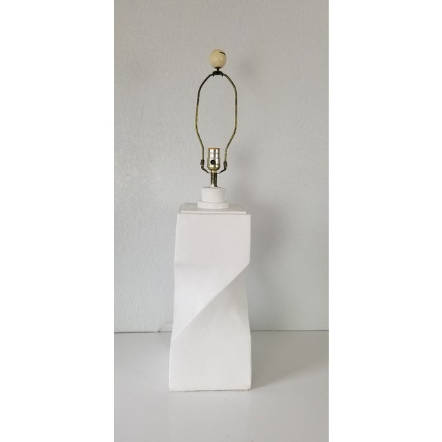 Postmodern Geometric Plaster Decorative Table Lamp For Sale In Miami - Image 6 of 9