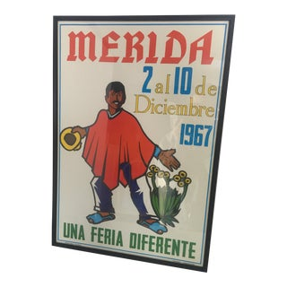 Mexican Mid Century Mérida Festival Framed Poster For Sale
