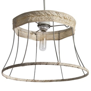 Lampshade Frame Pendant Light For Sale
