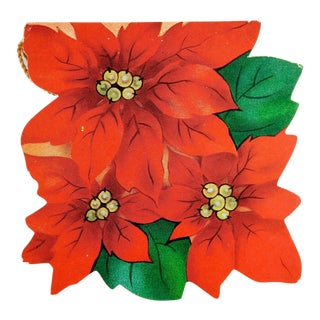Poinsettia Bridge Tally Cards - Set of 4 For Sale