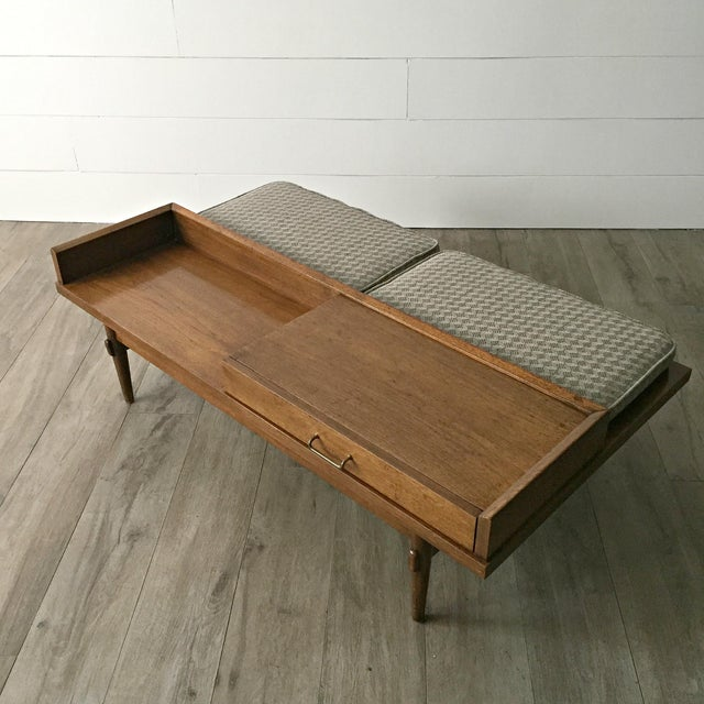 Merton L. Gershun for American of Martinsville Mid-Century Modern Coffee Table Bench - Image 4 of 9