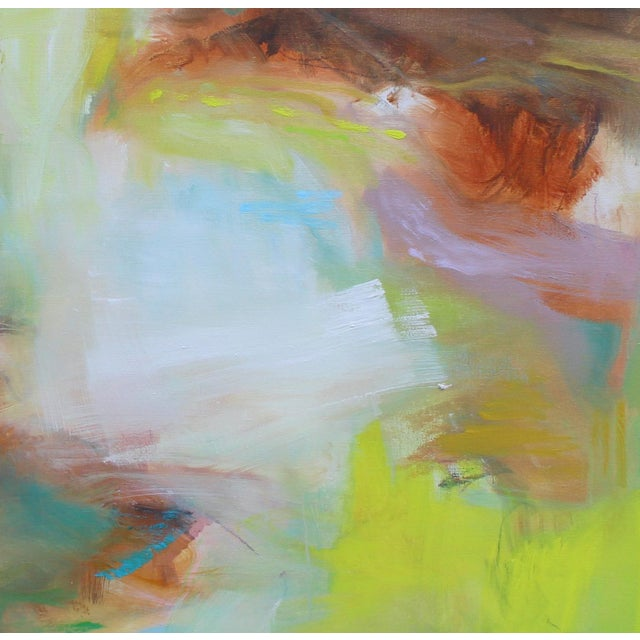 """Appalachian Spring"" is a large abstract expressionist oil painting on fine linen canvas by one of Chairish's most popular..."