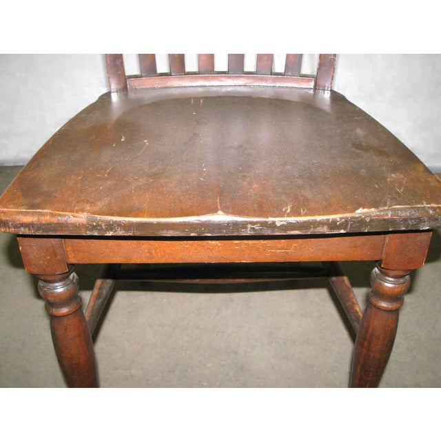 Original Antique Dark Oak Chair For Sale - Image 9 of 9