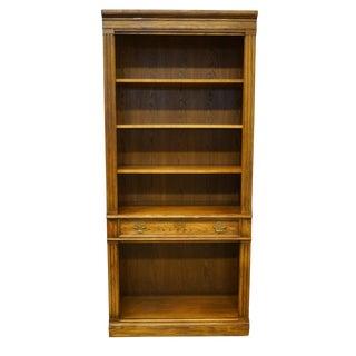 1970s Italian Thomasville Furniture Wall Unit Open Bookcase For Sale