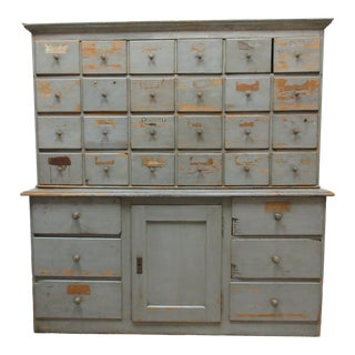 Late 19th Century Original Swedish Apothecary Cabinet For Sale