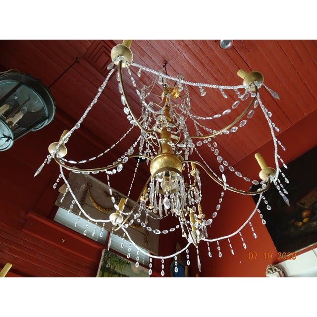 19th Century Italian Crystal Chandelier For Sale - Image 12 of 13