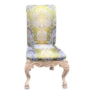 Venetian Style Green Silk Chair