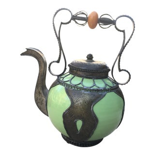 Vintage Moroccan Tea Pot For Sale