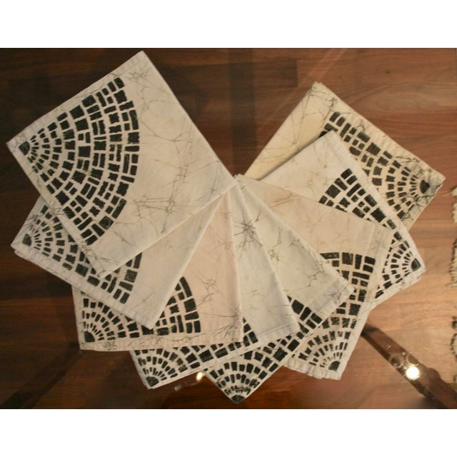 Great set of 8 - 100% cotton handmade batik dinner napkins. Great for a bohemian home and anyone who loves to entertain....