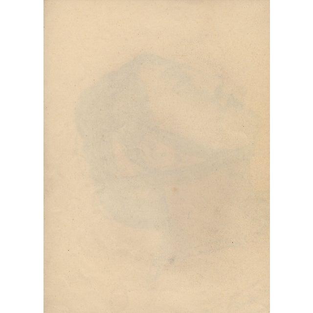 Auguste Revel 1927 Romanesque Female Portrait - Image 2 of 2