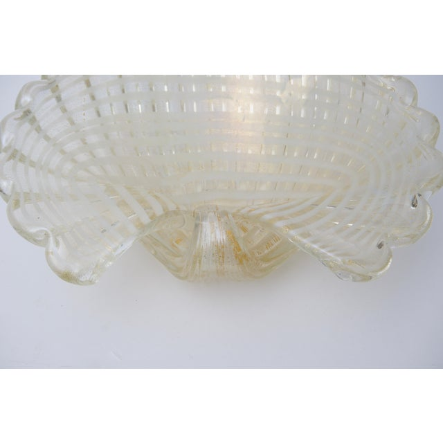 Glass Large Scale Clam Shell Murano Glass Dish by Barovier E Toso For Sale - Image 7 of 8