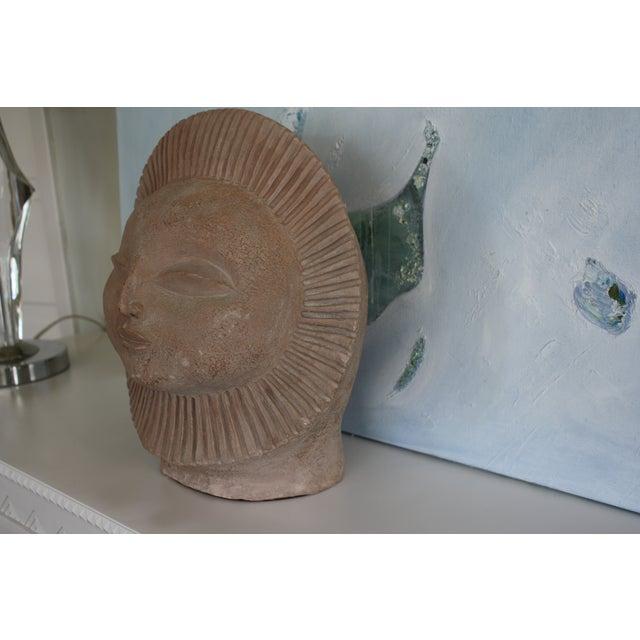 1968 Paul Bellardo Sun Face Sculpture - Image 4 of 7