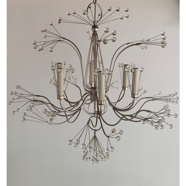 A Whimsical 'Splashing Water 37' Chandelier Designed By Tony Duquette And Re-Issued By Remains Lighting. Featuring Six...