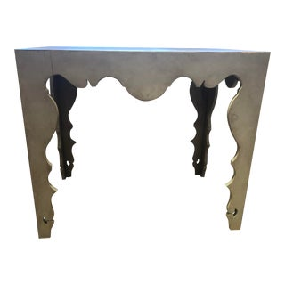 Washed Gray Console Table For Sale