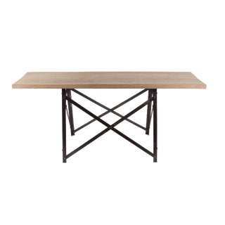 French Narrow Trestle Table For Sale
