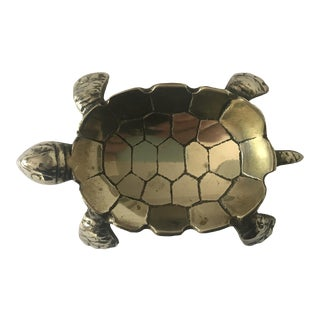 Vintage Brass Turtle Ring Dish For Sale