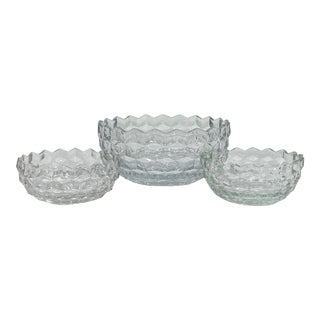 1950s Fostoria American Pattern Serving Bowls - Set of 3 For Sale