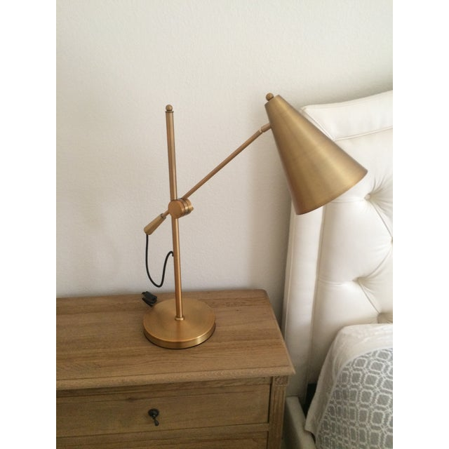 Mid-Century Brass Table Lamp/Desk Lamp - Image 2 of 3