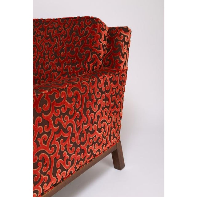 Fabric 1960'S VINTAGE HARVEY PROBBER LOUNGE CHAIR & OTTOMAN For Sale - Image 7 of 10
