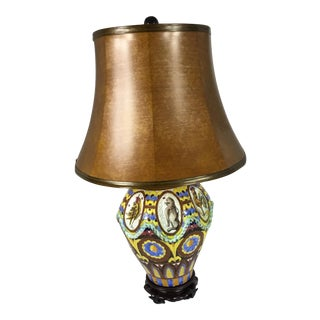 Spanish Mission Majolica Table Lamp For Sale