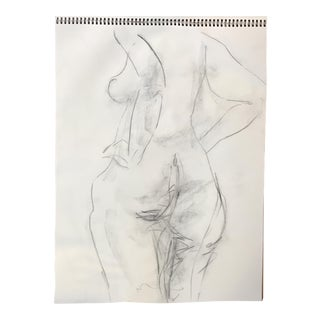 Nude Back View Drawing For Sale