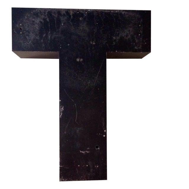 Giant Vintage Metal Sign Letter - T - Image 1 of 8