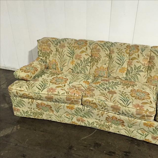 Remarkable Vintage 60S Retro Floral Sofa Onthecornerstone Fun Painted Chair Ideas Images Onthecornerstoneorg