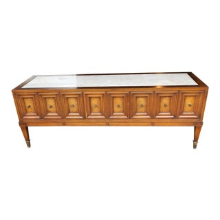 Hollywood Regency Marble Top Credenza