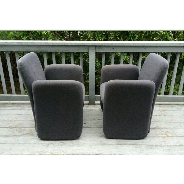 Mid-Century Bellini Style Chicklet Chairs - Pair - Image 6 of 7