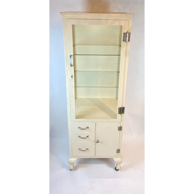 1950s Mid Century Metal Medical Cabinet For Sale - Image 13 of 13
