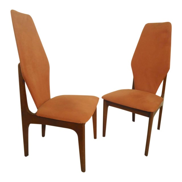 Adrian Pearsall Style Tall Back Chairs - a Pair - Image 1 of 7