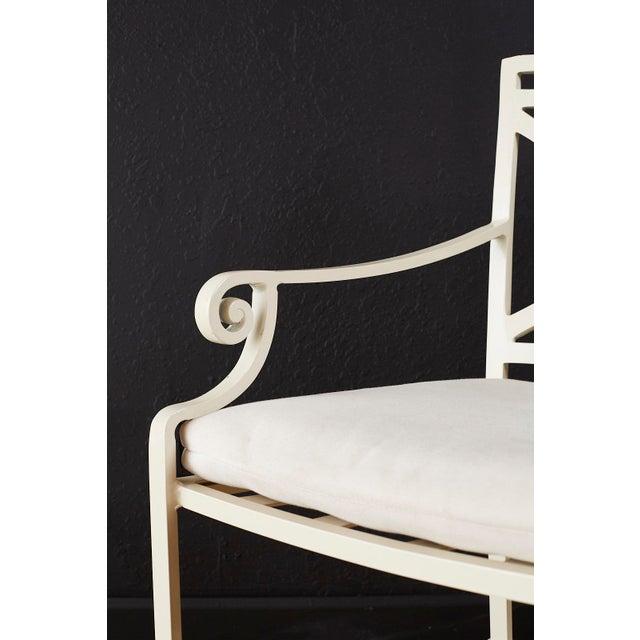 Set of Six Brown Jordan Aluminium Patio Garden Chairs For Sale In San Francisco - Image 6 of 13
