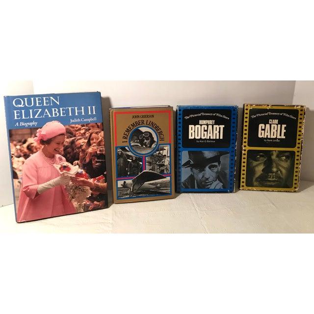 1970s Vintage Queen Elizabeth, Lindbergh, Bogart and Gable Biographies - Set of 4 For Sale - Image 5 of 5