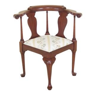 Henkel Harris Queen Anne Cherry Corner Chair