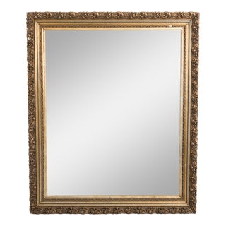 Antique French Frame and Mirror For Sale
