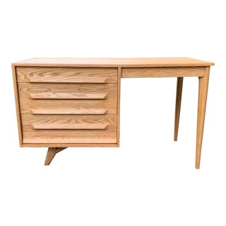 Jack Van Der Molen Solid Oak Desk For Sale