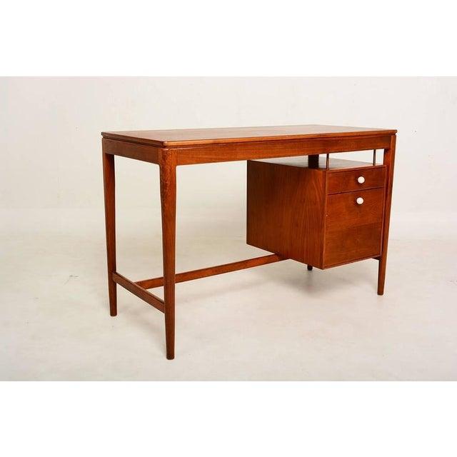 Mid-Century Modern Mid Century Modern Walnut Desk by Drexel Kipp Stewart For Sale - Image 3 of 9