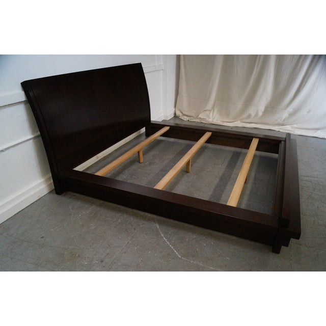 Contemporary Stickley Tribeca Cherry California King Size Bed For Sale - Image 3 of 10