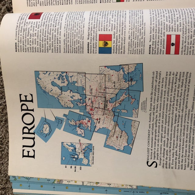 Paper Vintage Atlas of the World Books - A Pair For Sale - Image 7 of 8