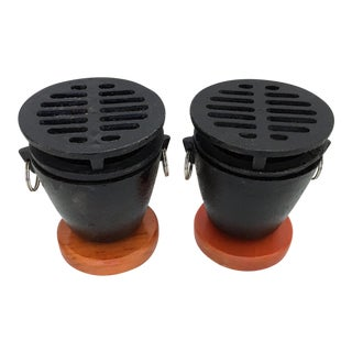 Pu Pu Platter Cookers - A Pair