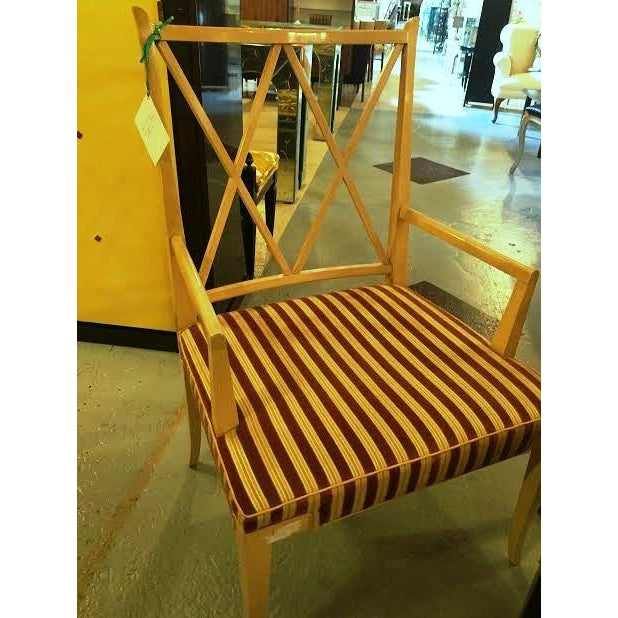 1950's Tommi Parzinger X-Back Chairs - Set of 6 For Sale In New York - Image 6 of 7